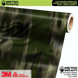 Classic Green Silk Camouflage Car Wrap Vinyl