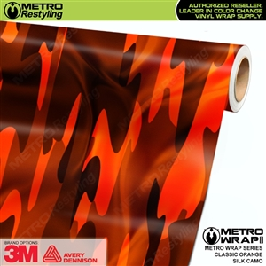 Classic Orange Silk Camouflage Car Wrap Vinyl