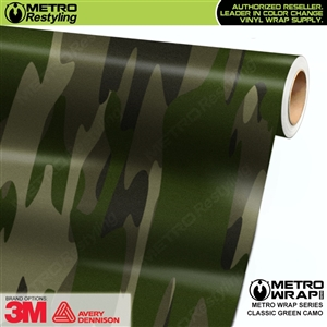 Classic Green Camouflage Car Wrap Vinyl