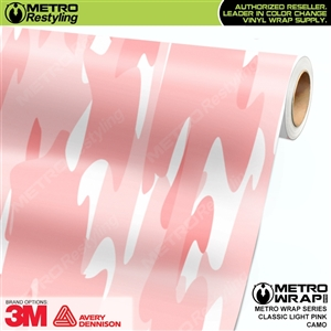 Classic Light Pink Camouflage Car Wrap Vinyl