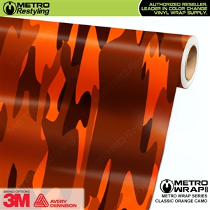 Classic Orange Camouflage Car Wrap Vinyl