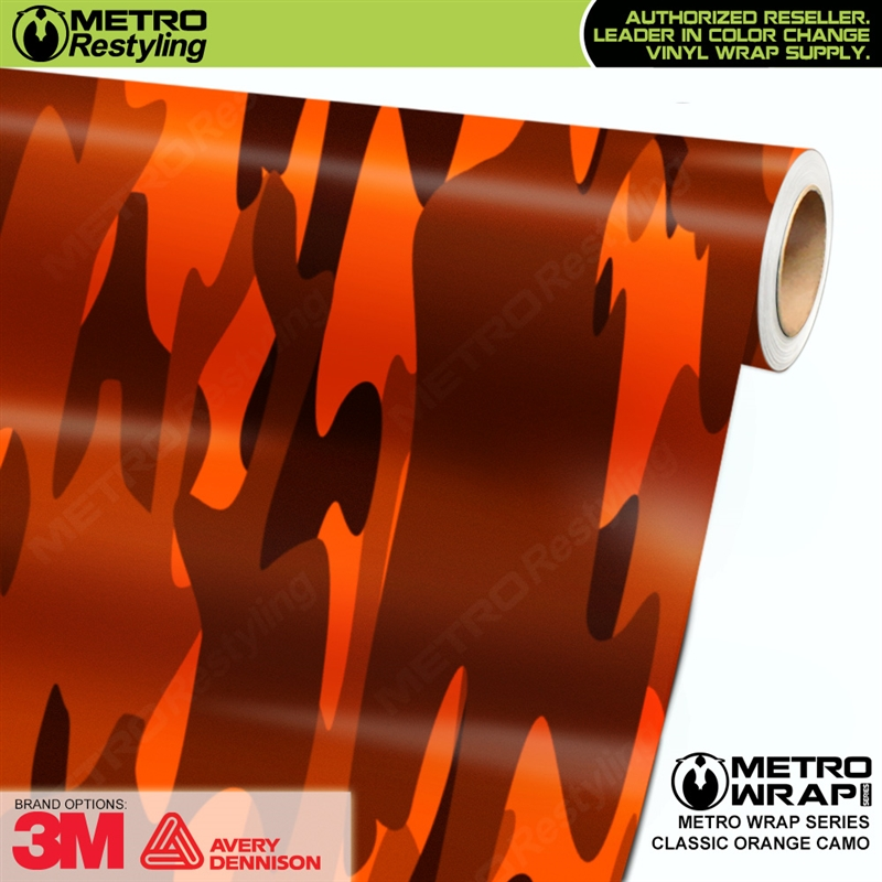 Classic Orange Is A Camo Vehicle Wrap Vinyl Printed With A