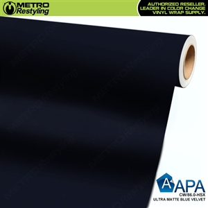 APA Vehicle Wrap Film | Ultra Matte Blue Velvet | CW/86.0-HSX