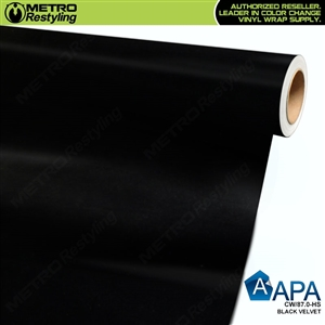 APA Vehicle Wrap Film | Black Velvet | CW/87.0-HS