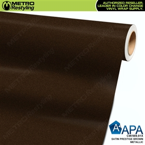 APA Vehicle Wrap Film | Satin Prestige Brown Metallic | CW/989.81X