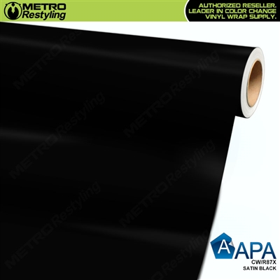 APA Vehicle Wrap Film | Satin Black | CW/R87X