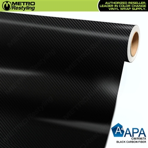 APA Vehicle Wrap Film | Black Carbon Fiber | CW/R967X