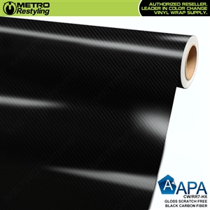 APA Vehicle Wrap Film | Gloss Scratch Free Black Racing Carbon Fiber HS | CW/RR7-HX