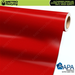 satin candy red wrap