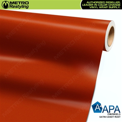 APA Vehicle Wrap Film | Satin Candy Rust | CW/SK83.3