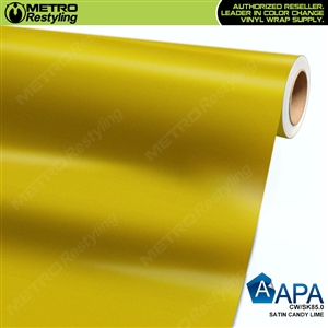 APA Vehicle Wrap Film | Satin Candy Lime | CW/SK85.0