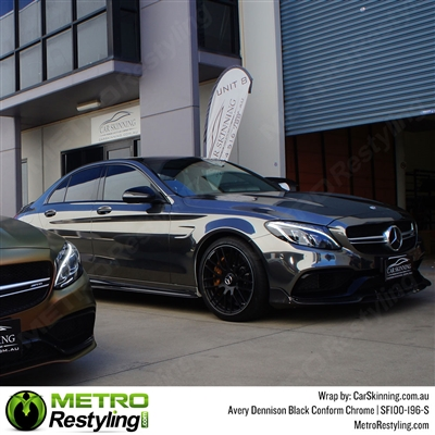 Avery Gloss Black Chrome Flexible Vinyl Wrap Film Is A Great Way To