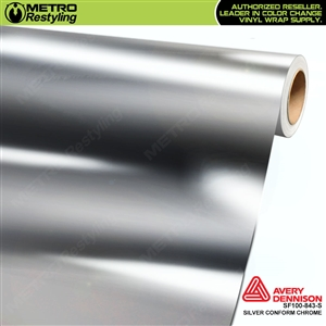 Avery Dennison SF100-843-S Silver Conform Chrome accent vinyl wrap film