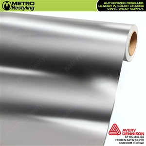 Metro Avery Dennison Frozen Satin Silver Conform Chrome vinyl wrap accent film