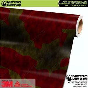 Metro Diverse Series Devil Blaze Camouflage Vehicle Vinyl Wrap Film
