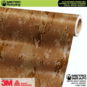 Digital Desert Land Camouflage Car Wrap Vinyl