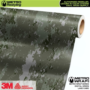 Digital Green Land Camouflage Car Wrap Vinyl
