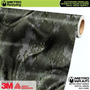 Digital Green Silk Camouflage Car Wrap Vinyl