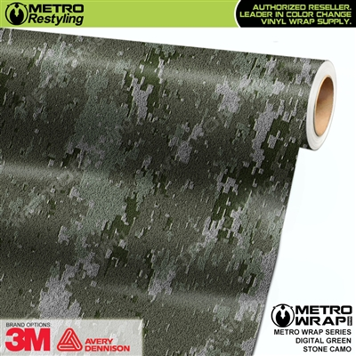 digital green stone camouflage vinyl wrap