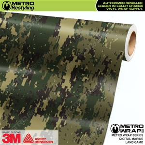 Digital Marine Land Camouflage Car Wrap Vinyl