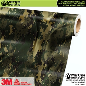Digital Marine Silk Camouflage Car Wrap Vinyl