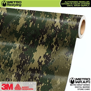 Digital Marine Stone Camouflage Car Wrap Vinyl