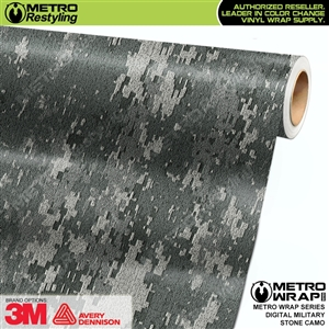Digital Military Stone Camouflage Car Wrap Vinyl
