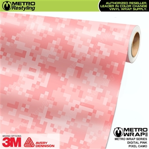Digital Pink Pixel Camouflage Car Wrap Vinyl