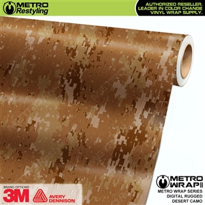 Digital Rugged Desert Camouflage Car Wrap Vinyl