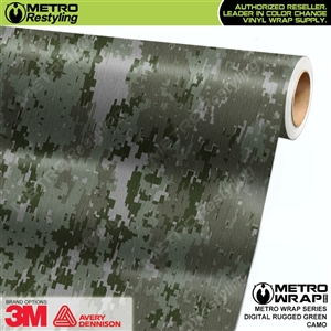 Digital Rugged Green Camouflage Car Wrap Vinyl