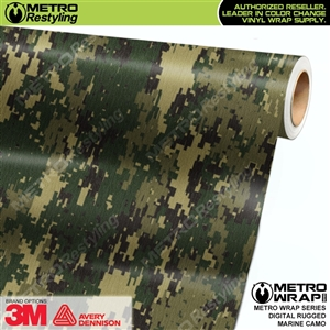 Digital Rugged Marine Camouflage Car Wrap Vinyl