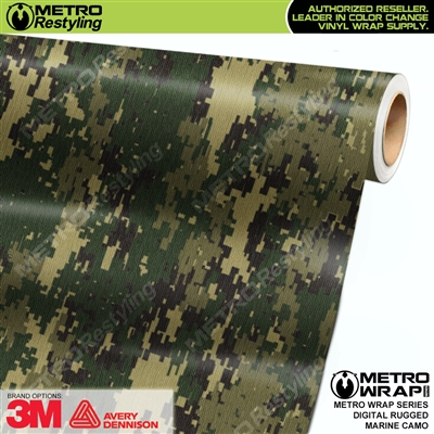 digital rugged marine camouflage vinyl wrap