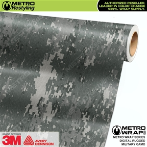 digital rugged military camouflage vinyl wrap