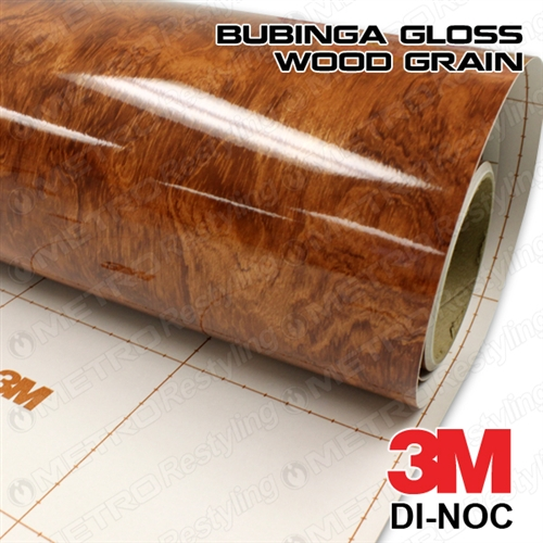 3m di noc bubinga gloss wood vinyl. Black Bedroom Furniture Sets. Home Design Ideas