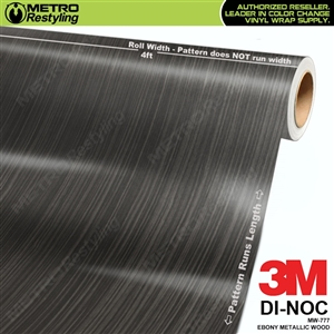 ebony metallic wood grain vinyl