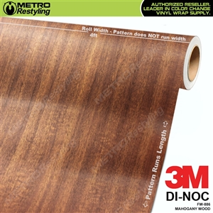 mahogany wood grain vinyl wrap