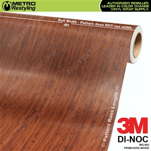 primavera wood grain vinyl wrap