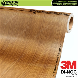 walnut wood grain vinyl wrap