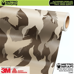 duck silhouette camouflage vinyl wrap