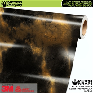 Metro Ebony Carrara Gold Vinyl Car Wrap Film