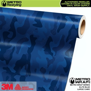 Elite Blue Large Camouflage Vinyl Vehicle Wrap Film