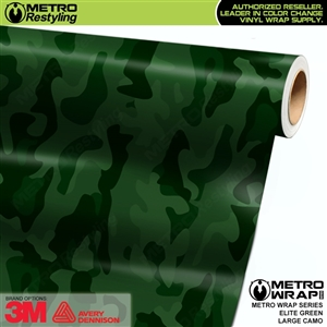 Elite Green Large Camouflage Vinyl Car Wrap Film