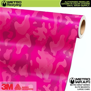 Elite Magenta Large Camouflage Vinyl Vehicle Wrap Film