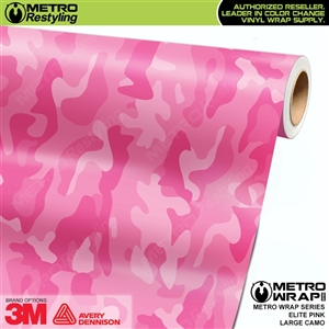 Elite Pink Large Camouflage Vinyl Vehicle Wrap Film