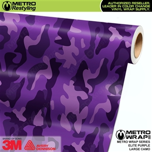 Elite Purple Large Camouflage Vinyl Car Wrap Film