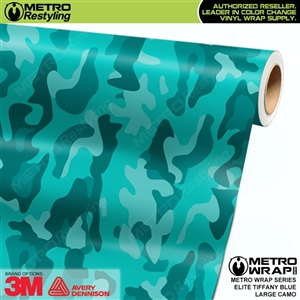 Elite Tiffany Blue Large Camouflage Vinyl Car Wrap Film