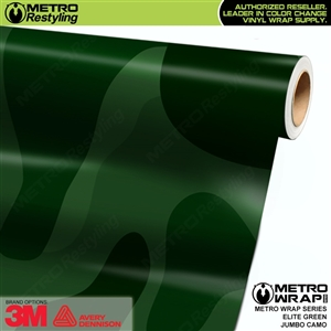 Elite Green Jumbo Camouflage Vinyl Vehicle Wrap Film