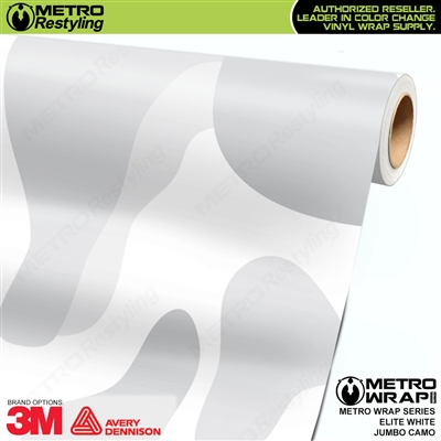 Elite White Jumbo Camouflage Vinyl Car Wrap Film