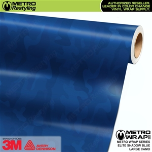 Elite Shadow Blue Large Camouflage Vinyl Car Wrap Film