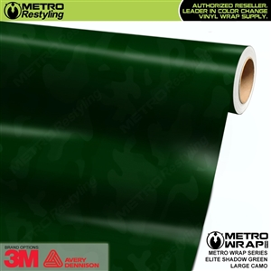 Elite Shadow Green Large Camouflage Vinyl Car Wrap Film